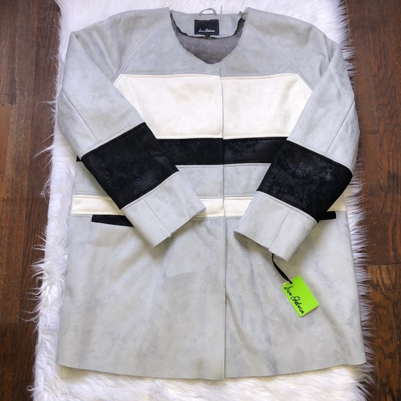 6ead4a826 Sam Edelman Jackets & Coats | Aiden Faux Shearling Color Block Coat ...